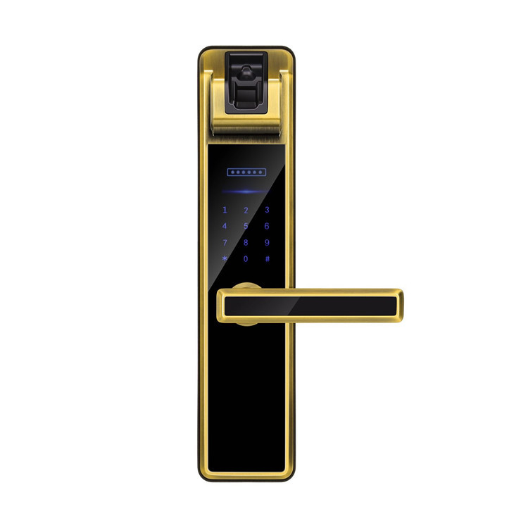 High Security Finger Vein Smart Recognition Door Lock Golden / Silver / Bronze Color